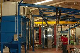 Powder-Coat - machine à laquer et laquage et thermolaquage et traitement de surface et cabines de laquage et impression numérique bi coloration